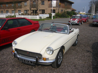 MGB at Race Retro Show